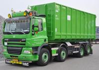DAF CF85 rigid truck with hookarm container.   Bos Recycling  (арт.  62623)