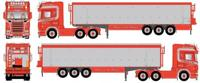 Scania R-serie Topline with potato-semitrailer.   Verbeek, S.   (арт.  61484)