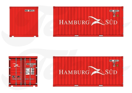 Droge 20ft. container Hamburg Sud (арт. 76983)