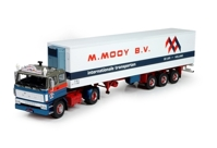 DAF 2800 4x2 sleeper cab with Classic reefer semitrailer Mooy, M. (арт. 72111)