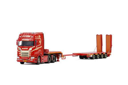 SCANIA S HIGHLINE | CS20H 6X2 TAG AXLE SEMI LOW LOADER | RAMPS - 4 AXLE Alfred Nielsen (арт. 01-2963)