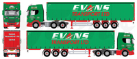 Scania Next Gen R450 Highline met schuifzeilen oplegger Evans Transport (арт. 81838)