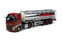 Volvo FH03 Globetrotter with stainless steel tank trailer.  Van der Lee  (арт.  63416)