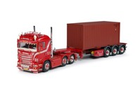 Scania R-serie Lowline with 20ft. container-semitrailer  Weeda  (арт.  60917)