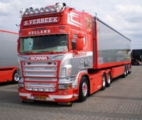 Scania R-serie Topline with potato-semitrailer  Verbeek, S.  (арт. 64273)