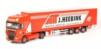 DAF XF105 Super Space-Cab with curtainside semi-trailer. Heebink  (арт. 59595)