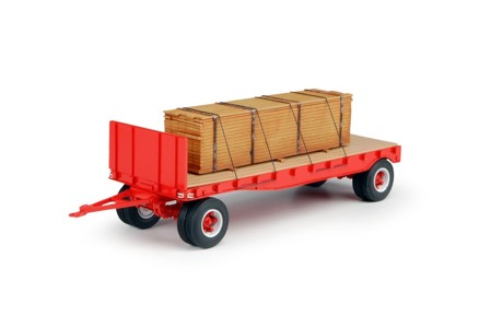 DAN short flat trailer and load + dolly (red)  (арт.  68714)
