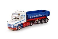 Scania 4-serie Torpedo with 3 axle tipper trailer Bastiaansen  (арт. 67074)
