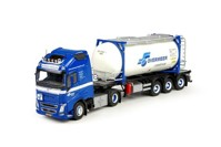 Volvo FH04 Globetrotter XL with Swap tankcontainer Overmeer  (арт. 68344)