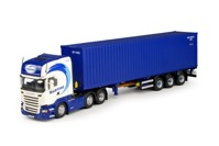 Scania R-Streamline Topline with Flexitrailer and 40ft. container Maritime  (арт. 68940)