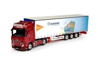 Mercedes Benz Actros Gigaspace with curtainside semitrailer Routiers Suisse  (арт.  64732)