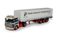 Scania 1-serie with Classic tilt semitrailer Koops, Wolter  (арт. 65508)