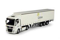 MAN TGX Euro 6 XXL with curtainside semitrailer Globe Logistics (арт.  69129)