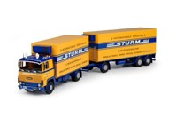 Scania 1-serie rigid truck with 3 axle trailer Sturm  (арт.  68489)