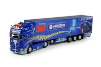 Scania R-serie topline with reefer semitrailer Trio Trans  (арт. 64837)
