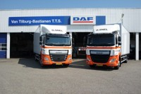 DAF CF Space Cab Euro 6 with curtainside semitrailer  Snel G.  (арт. 71283)