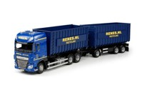 DAF Euro 6 XF Super Space Cab rigid truck with hookarm container Renes Recycling  (арт. 70299)