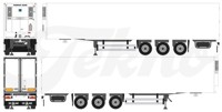 3-axle Gray & Adams reefer trailer (арт. 72115)