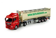 MAN TGX Euro 6 XLX 4x2 with 40ft Silo tankcontainer and chassis  Bosch, van den  (арт. 71655)