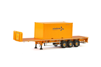 Dennison Flatbed Trailer + 20FT Container Windhoist (McNally's) (арт. 01-2369)
