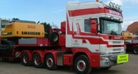 Scania R164 Topline 8x4 + Nooteboom MCO-PX semi low loader 6 axle Brame (арт. 72012)