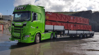SCANIA S HIGHLINE CS20H 6X2 TAG AXLE FLAT BED TRAILER - 3 AXLE BRING (арт. 01-2521)