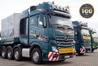 Mercedes-Benz Actros MP04 Gigaspace 8x4 + Nooteboom MCO109-07V semi low loader 7 axle STL (арт. 73666)