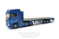 Scania New S-series Highline 6x2 & Flatbed 3 axle Blue Crown (арт. 72022)