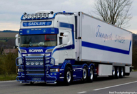 SCANIA STREAMLINE TOPLINE 6x2 TWIN STEER REEFER TRAILER - 3 AXLE Sadler (арт. 01-2603)