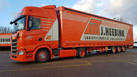 SCANIA S HIGHLINE CS20H 4x2 CURTAINSIDE / TAUTLINER TRAILER - 3 AXLE Heebink (арт. 01-2788)