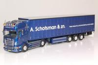 Scania R Topline truck with curtainside semitrailer.  Schotsman   (арт.  60926)