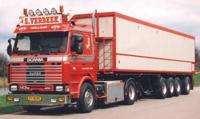 Scania 3-serie with potato-semitrailer.  S. Verbeek   (арт.  62806)