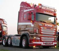 Scania R-serie Lowline tractor with semi-reefer trailer.  Ronny Ceusters  (арт.  62061)